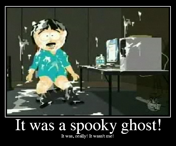 No, seriously. Ghosts.